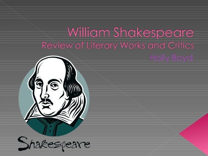 Boyd Holly William Shakespeare Presentation