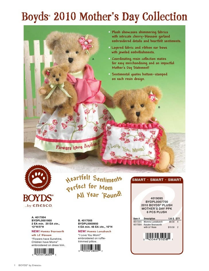 Boyds 2010 Mother's Day Collection                          ®                                                             ...