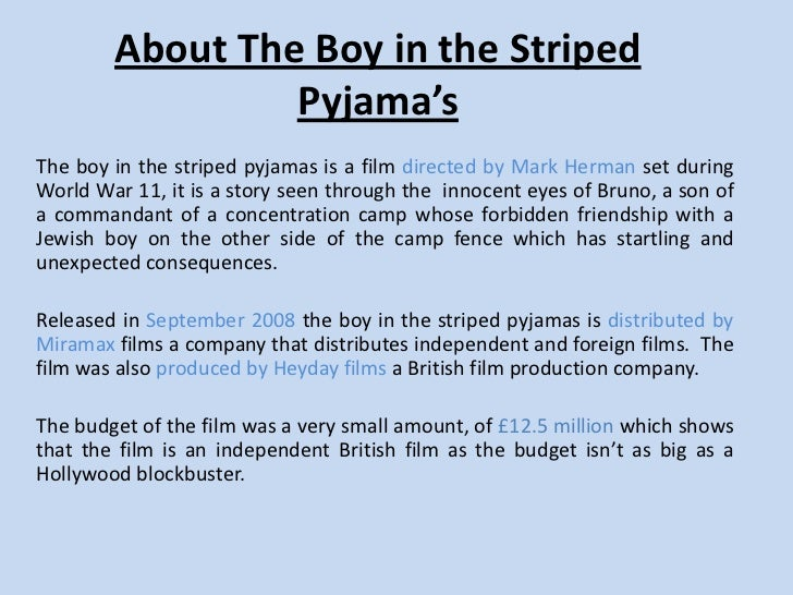 The boy in the striped pajamas theme essay