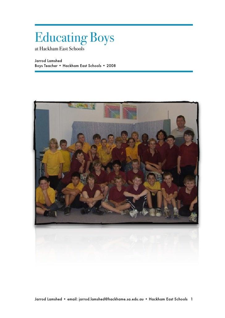 Boys Class Report 2008