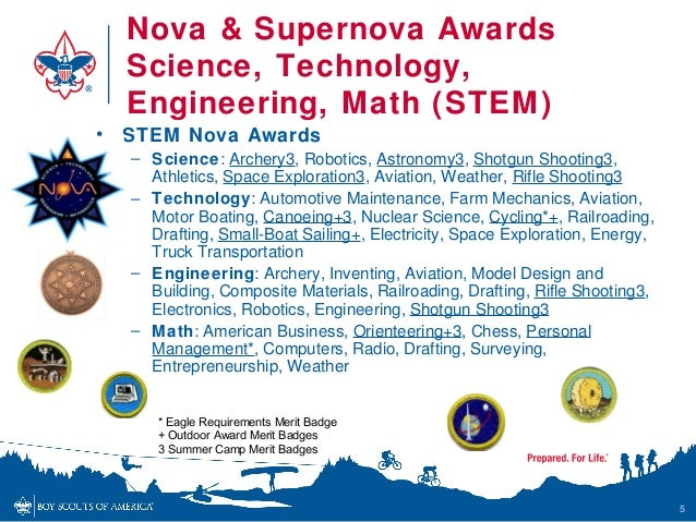 Boy Scouts STEM Nova Awards