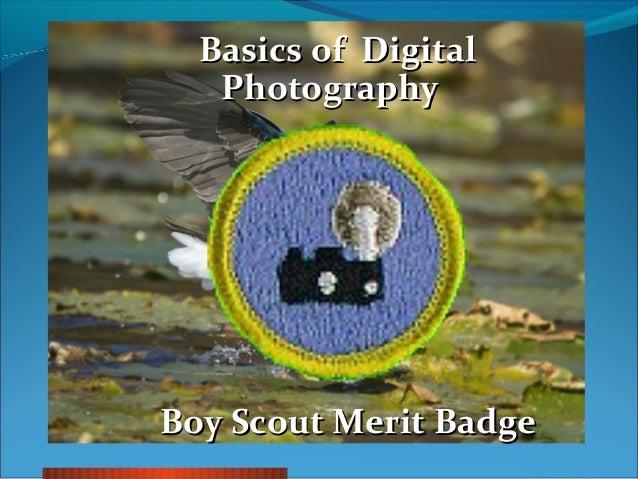Boy Scouts Photography Merit Badge Course