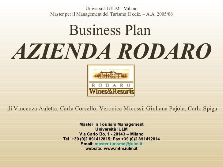 Business Plan Azienda Agricola