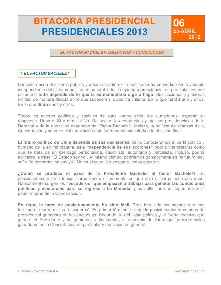 El factor Bachelet