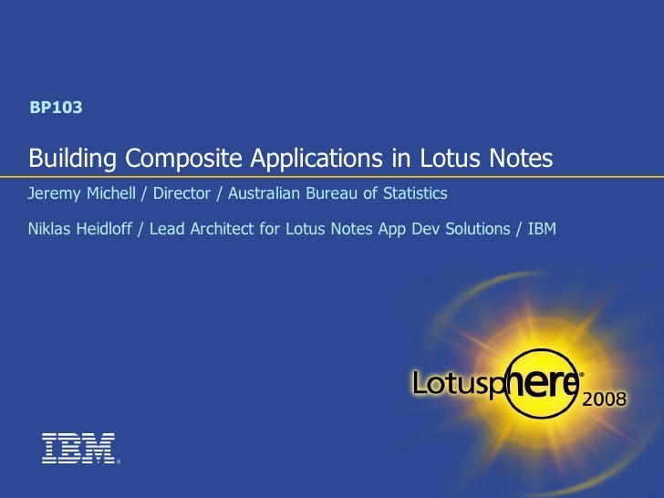 Building Composite Applications in Lotus Notes