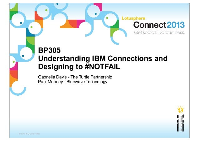 BP305                    Understanding IBM Connections and                    Designing to #NOTFAIL                    Gab...