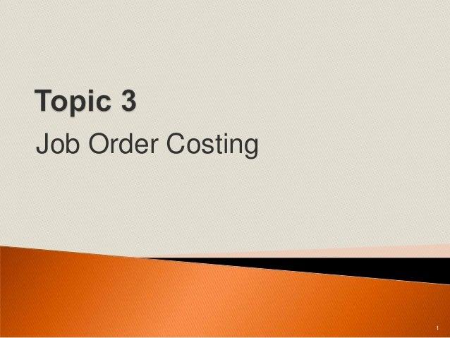 Job Order Costing 1