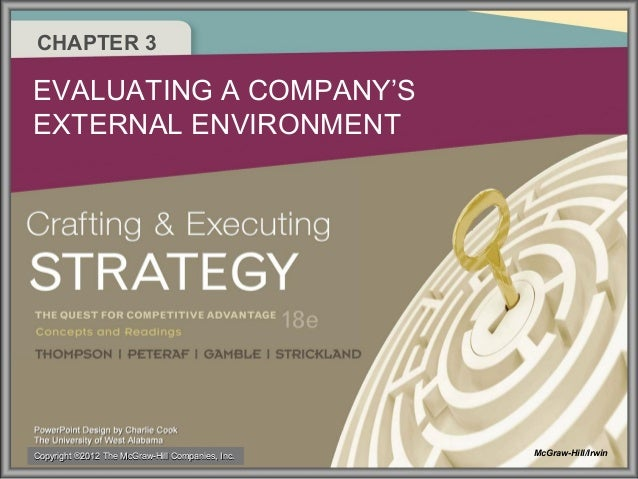CHAPTER 3  EVALUATING A COMPANY'S EXTERNAL ENVIRONMENT  Copyright ®2012 The McGraw-Hill Companies, Inc.  McGraw-Hill/Irwin