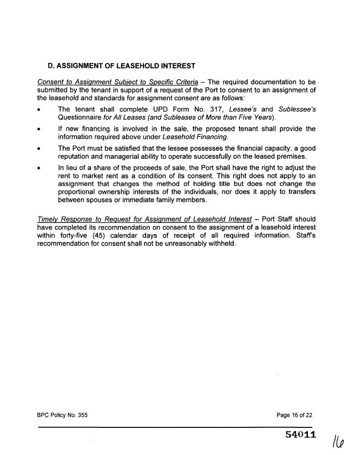 Assignment And Assumption Of Lease End Options