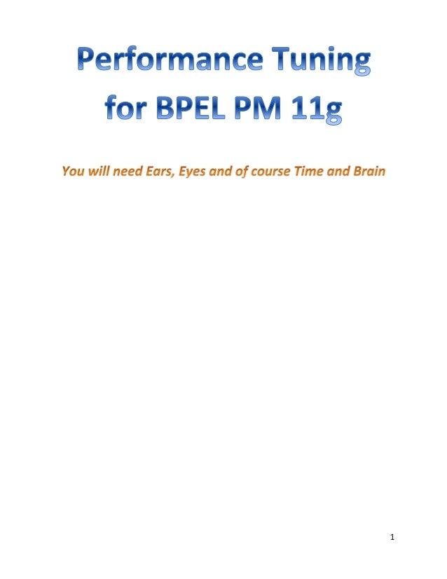 BPEL PM 11g performance tuning  - 1