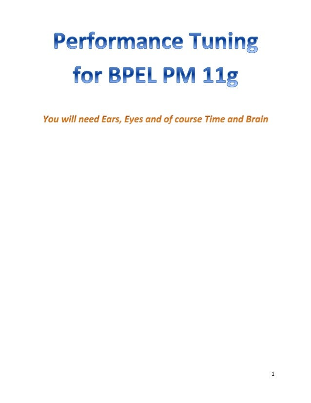 BPEL PM 11g performance tuning  - 6