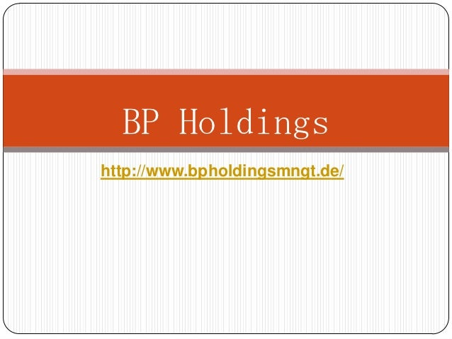 Welcome to our company (BP Holdings)