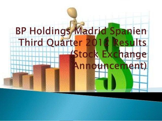 BP hat im dritten Quartal Wiederbeschaffungskosten (RC) betrug$ 4.687 Mio., verglichen mit $ 5.276 Mio. im Vorjahr. Berein...