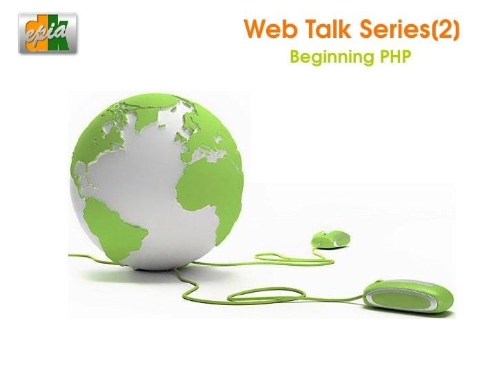 WebTalkSeries[2]         BeginningPHP