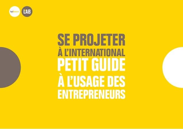 POUR CASSER LES IDÉES REÇUES qui peuvent gêner l'entrepreneur dans l'identification des bonnes opportunités POUR ACCOMPAG...