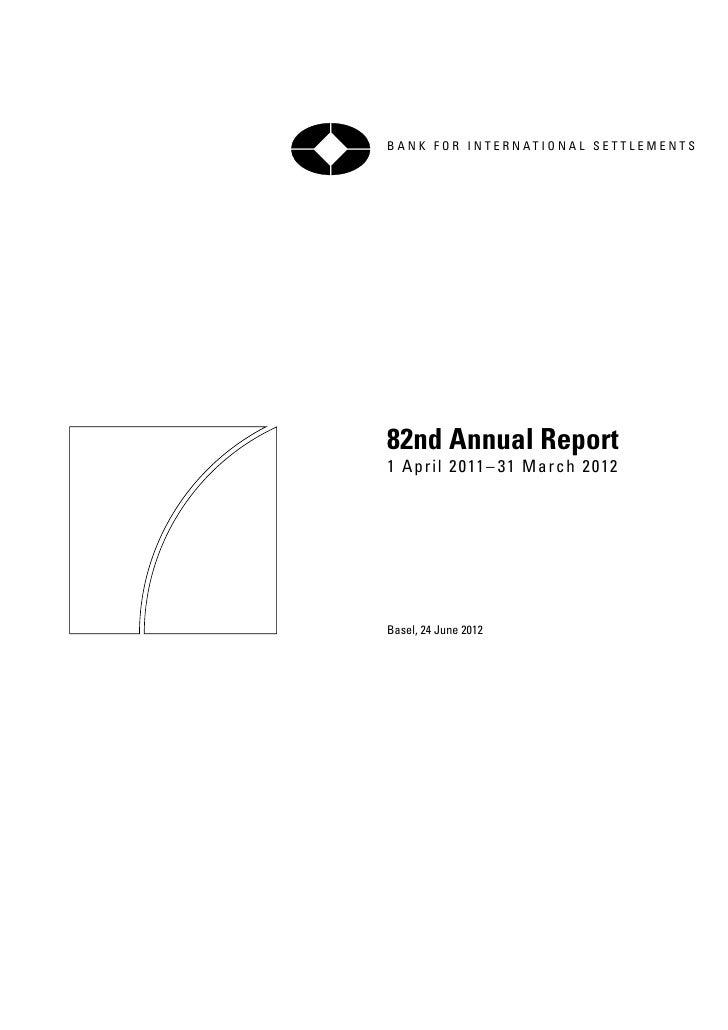 Banco de Pagos Internacionales: informe 2012