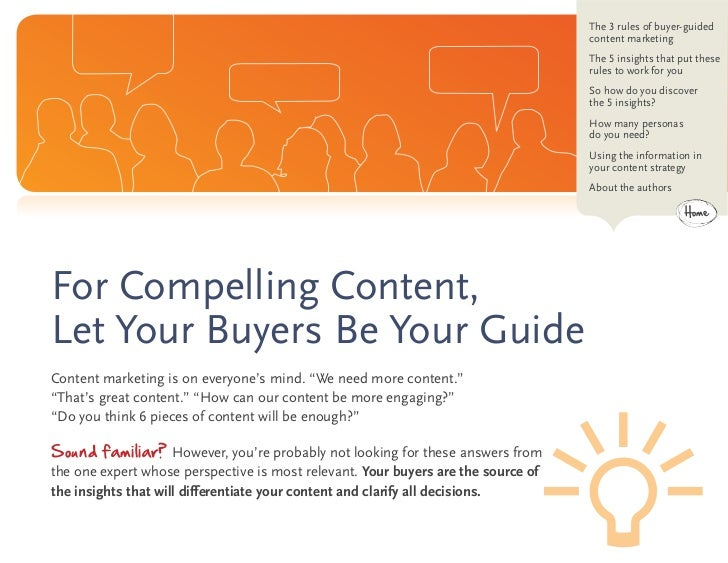 eBook: For Compelling Content, Let Your Buyer Be Your Guide