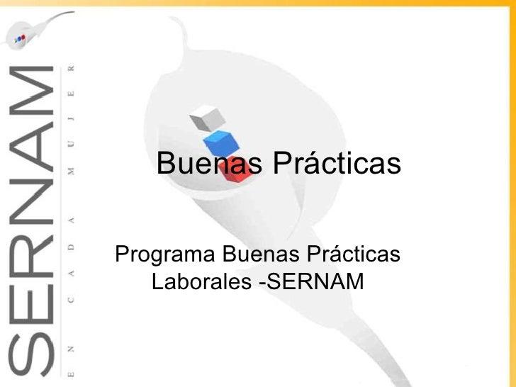 Buenas Prácticas Programa Buenas Prácticas Laborales -SERNAM