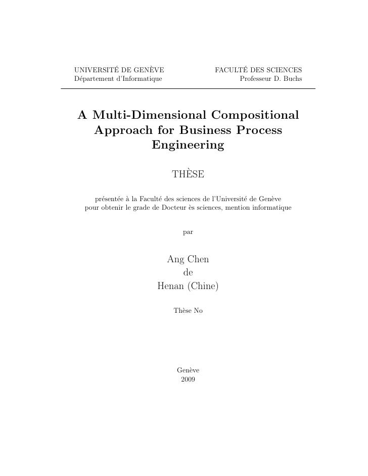 A Multi-Dimensional Compositional Approach for Business Process Engineering