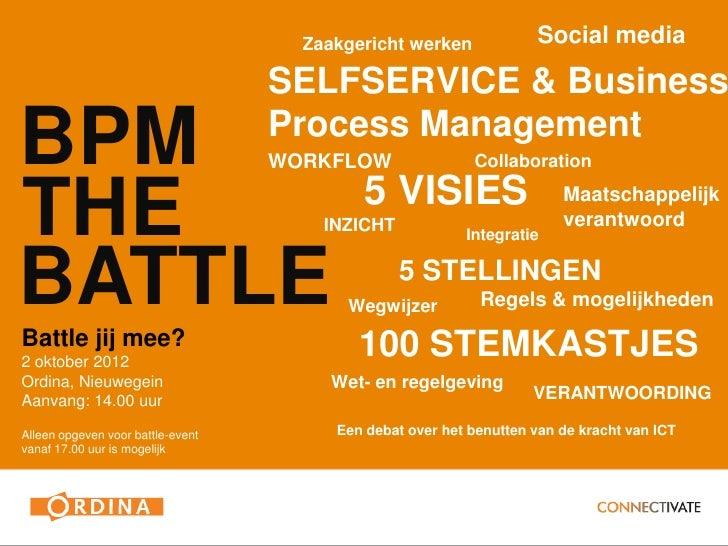 BPM the Battle save-the-date 2 oktober 2012