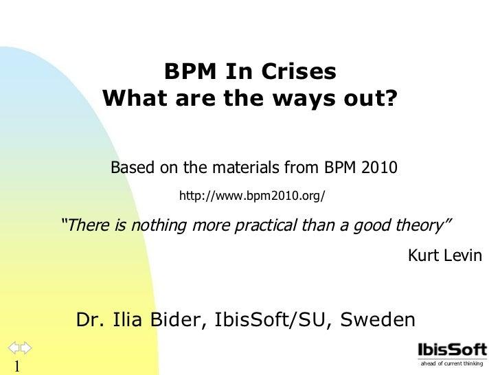 BPM in crises
