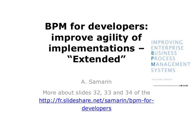 BPM for developers, extended