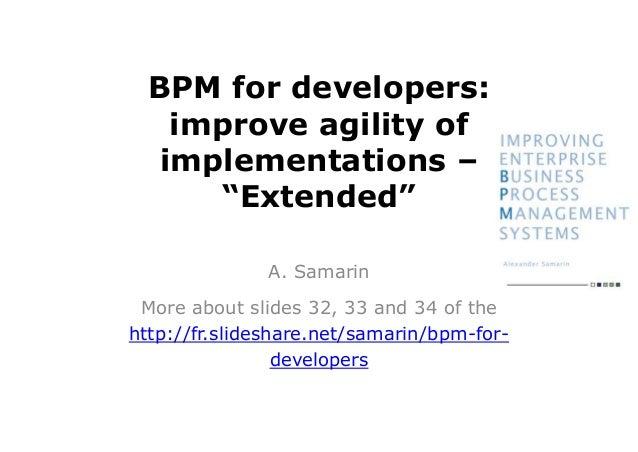 BPM for developers, extended