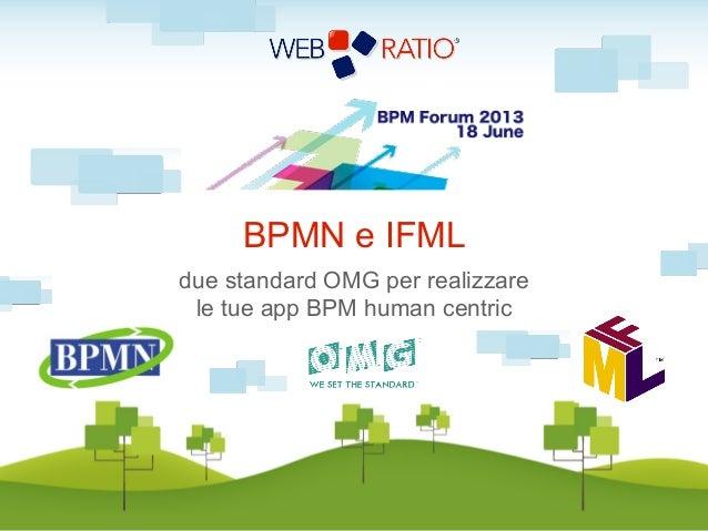 Bpm forum 2013   web ratio - BPMN e IFML