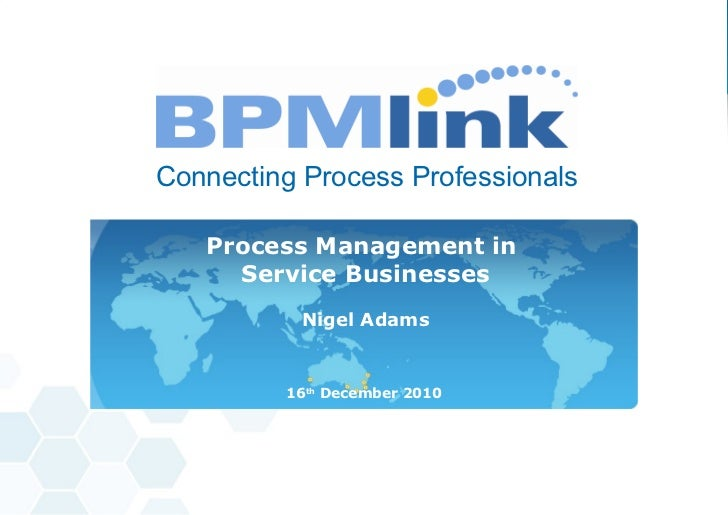 BPM in Service Businesses