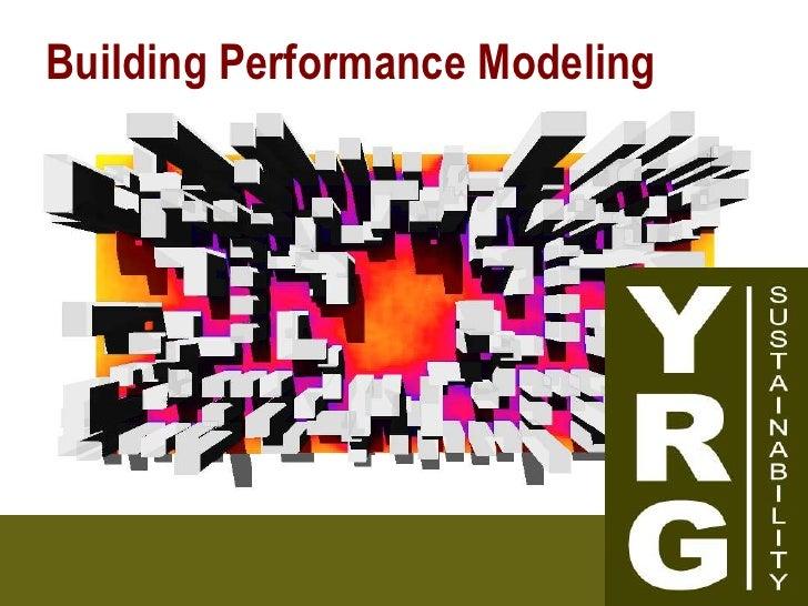 Building Performance Modeling