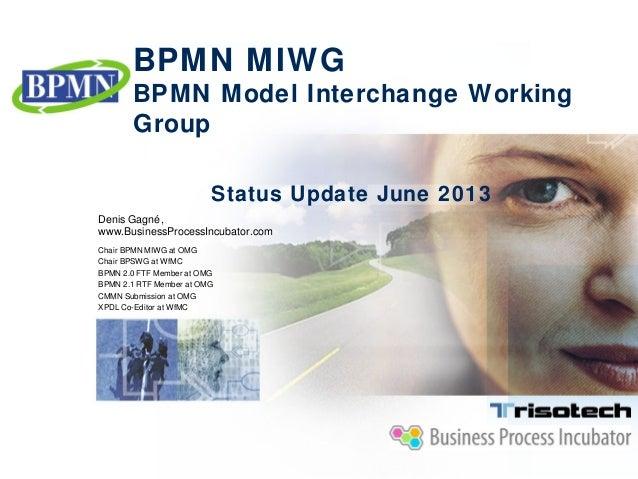BPMN MIWG Status Update June 2013