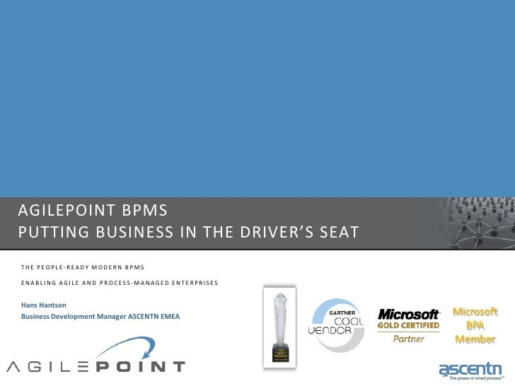 Bpms, Putting Business In The Driver'S Seat