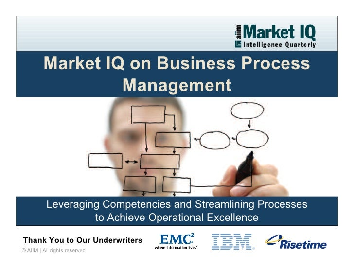 Market IQ on Business Process                   Management               Leveraging Competencies and Streamlining Processe...