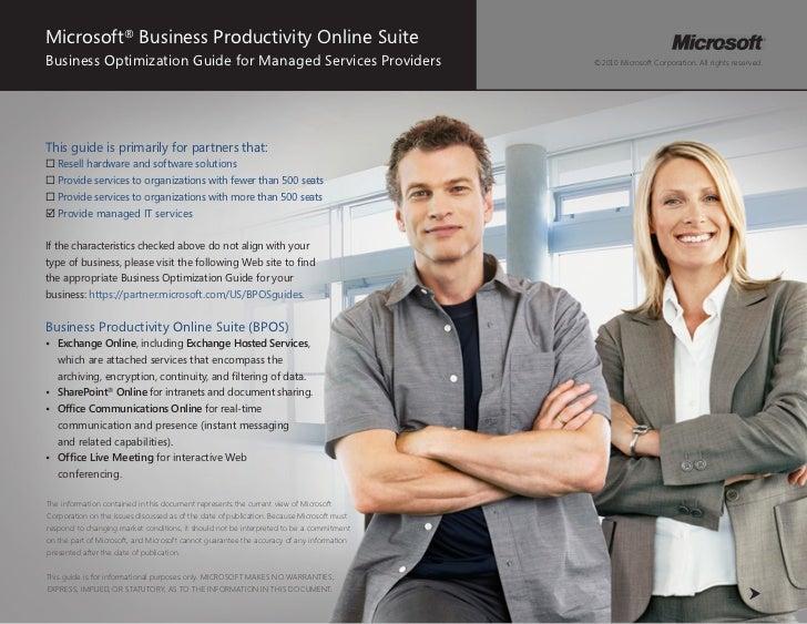 BPOS for the MSP