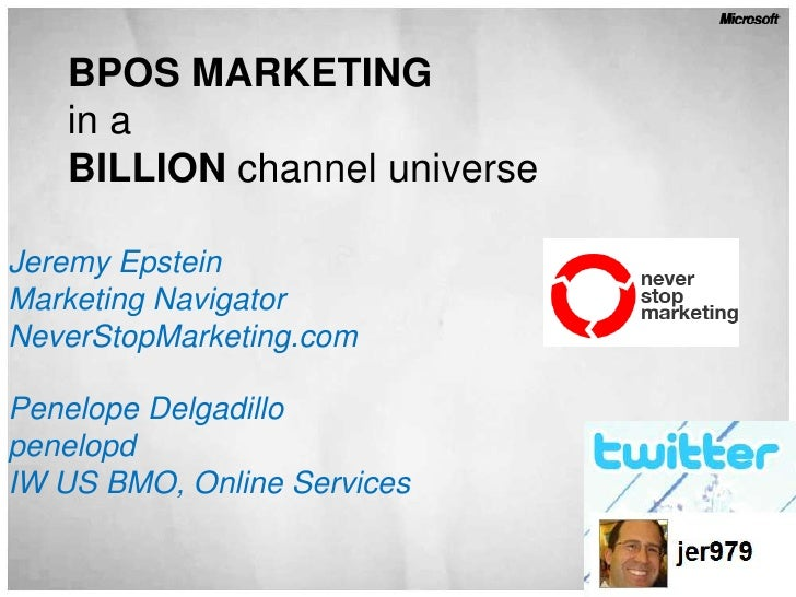Best Practices in BPOS Marketing