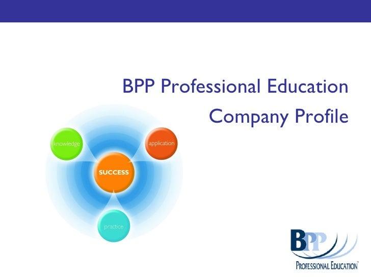 BPP Professional Education Company Profile