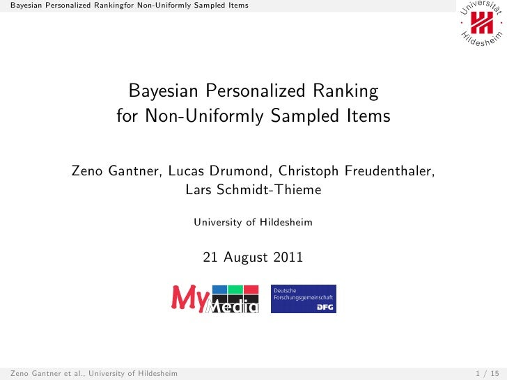 Bayesian Personalized Ranking for Non-Uniformly Sampled Items