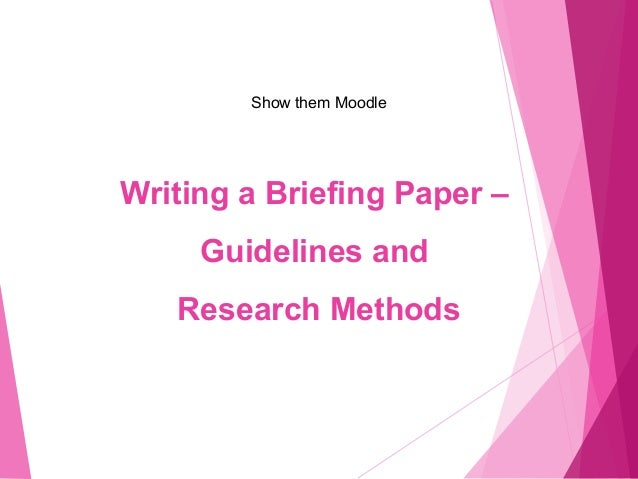 How to write a research brief