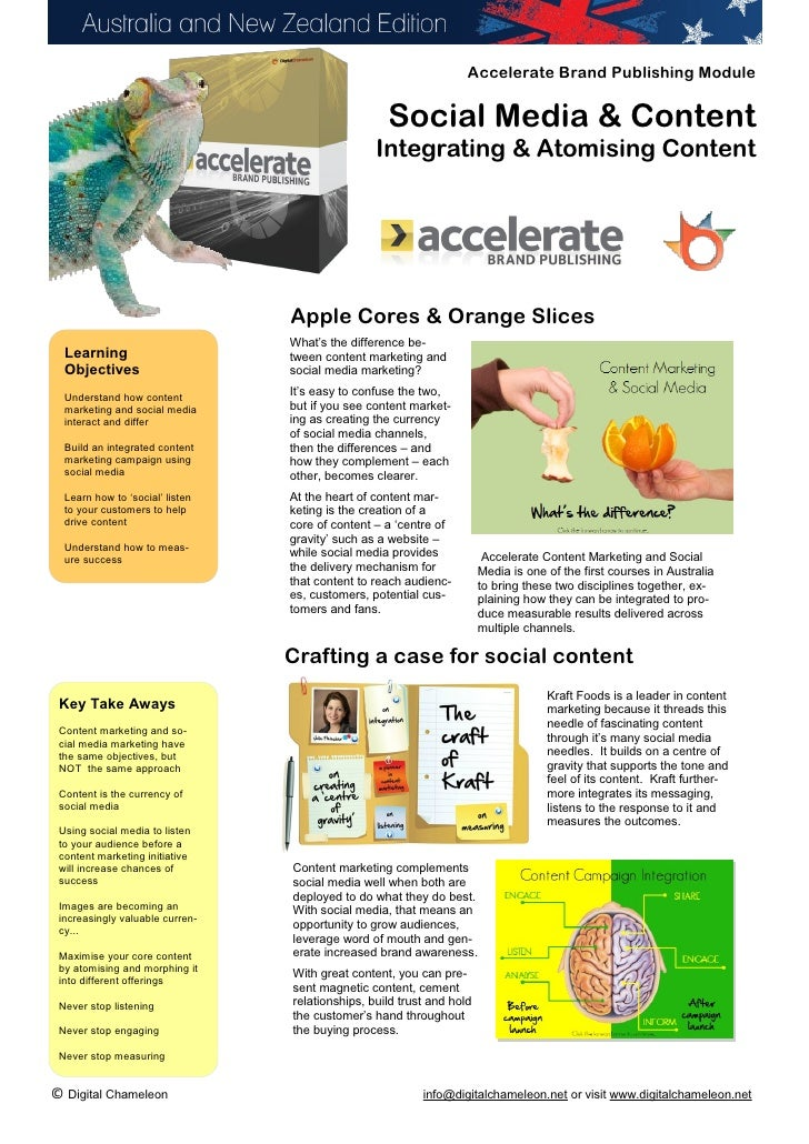 Accelerate Brand Publishing Social Media & Content Guide 2012