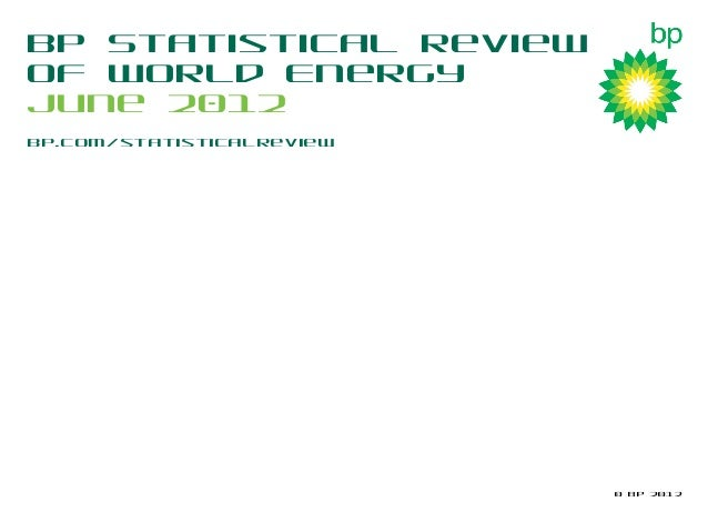 BP Statistical Review of World Energy 2012: Infographics