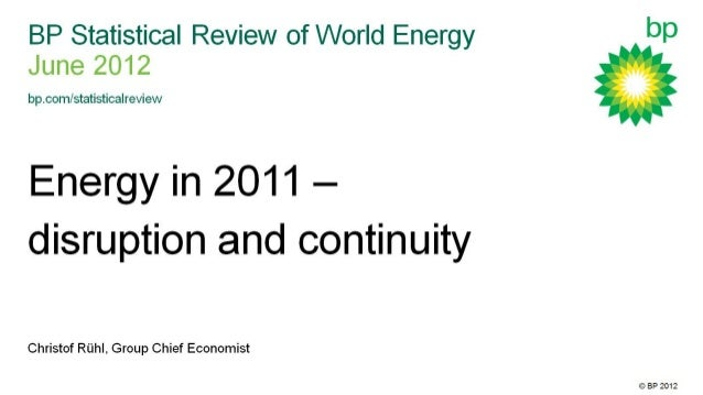 BP Statistical Review of World Energy 2012: Presentation