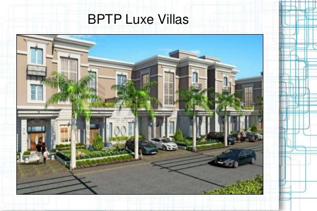 BPTP Luxe Villas Specifications Call @ 09999536147 Sector 70A, Gurgaon