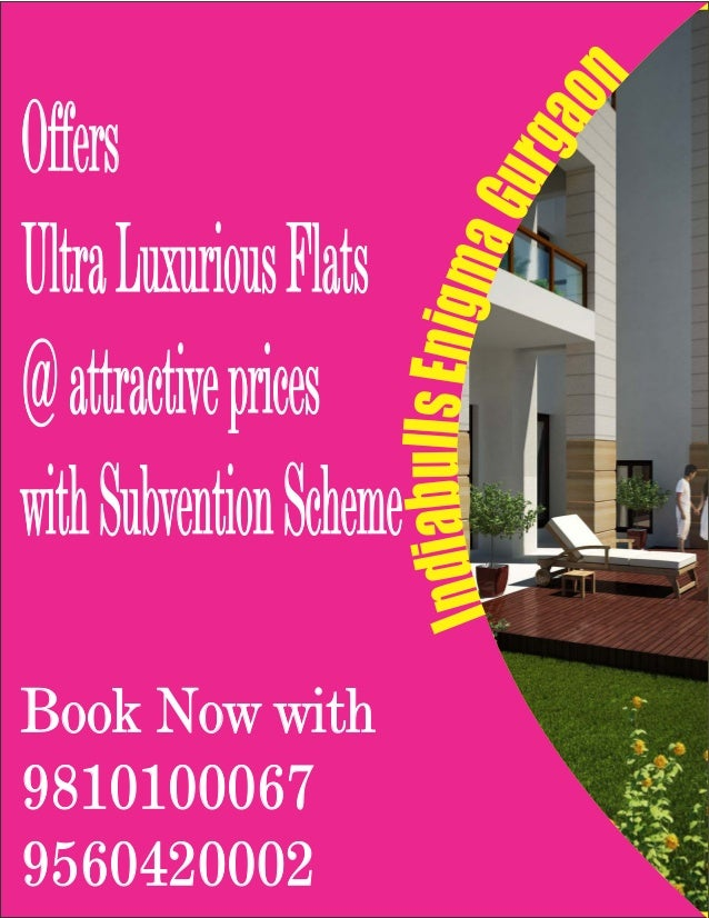 OffersUltra Luxurious Flats@ attractive priceswith Subvention SchemeBook Now with98101000679560420002
