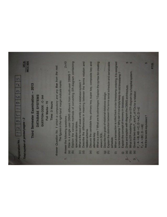 Bput mca 3rd semester 2013 question