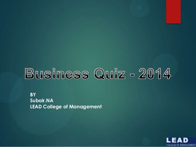 BY Subair.NA LEAD College of Management