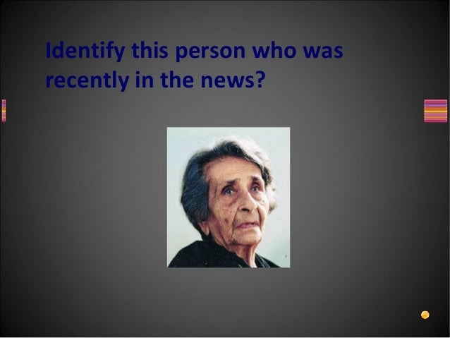 Identify this person who wasrecently in the news?