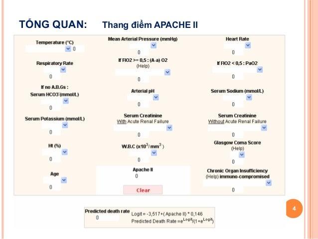 193 P DỤng Thang ĐiỂm Apache Ii Trong Đ 193 Nh Gi 193 ĐỘ NẶng V 192