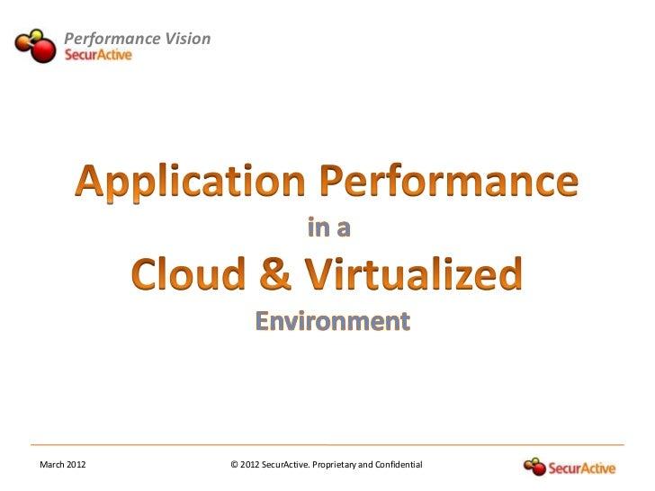 Workshop APM in a Cloud & Virtualized environment