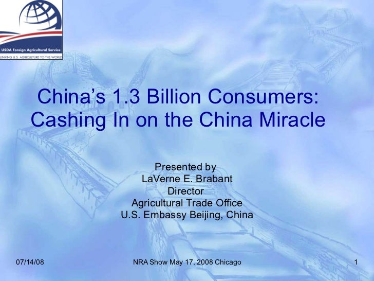 China's 1.3 Billion Consumers: Cashing In on the China Miracle