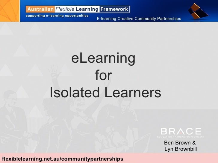 BRACE e-learning for isolated learners